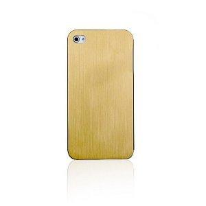 Металлический чехол New Case Ultra Thin Aluminum золотой для iPhone 5/5S/SE