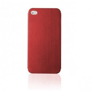 Металлический чехол NewCase Ultra Thin красный для iPhone 5/5S/SE