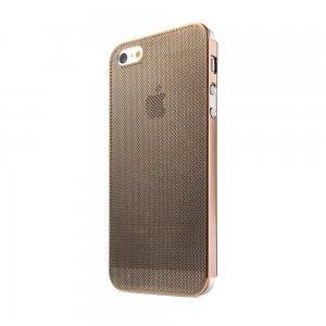 Перфорированный чехол NewCase Ultra Thin коричневый для iPhone 5/5S/SE
