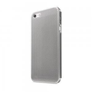 Перфорированный чехол NewCase Ultra Thin серебристый для iPhone 5/5S/SE