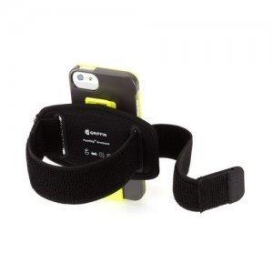 Чехол спорт и экстрим для Apple iPhone 5/5S - Griffin Armband Sports зеленый + черный
