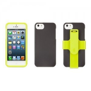 Чехол спорт и экстрим для Apple iPhone 5/5S - Griffin Armband Sports зеленый + черный