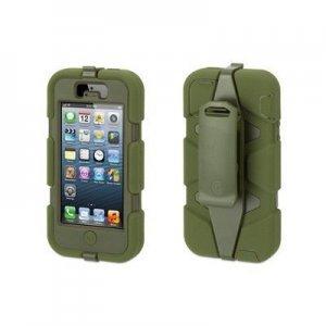 Чехол с креплением на пояс Griffin Survivor зеленый для iPhone 5/5S/SE