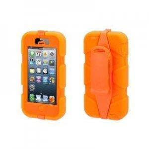 Чехол с креплением на пояс Griffin Survivor оранжевый для iPhone 5/5S/SE
