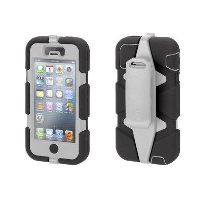 Чехол с креплением на пояс Griffin Survivor черный + серый для iPhone 5/5S/SE