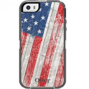Чехол спорт и экстрим для Apple iPhone 5/5S - OtterBox Defender USA flag