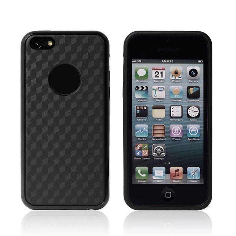 Силиконовый чехол New Case Cube черный для iPhone 5C