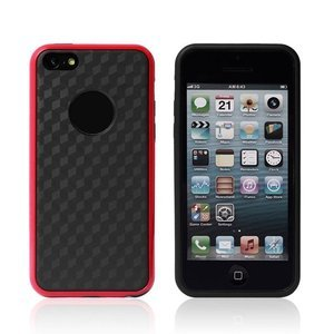 Силиконовый чехол NewCase Cube красный + черный для iPhone 5C