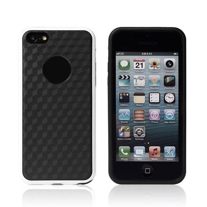 Силиконовый чехол NewCase Cube белый + черный для iPhone 5C