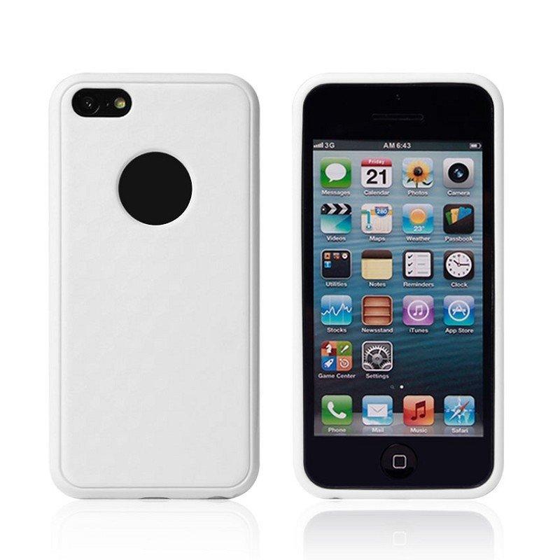 Силиконовый чехол New Case Cube белый для iPhone 5C