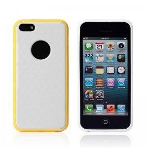 Силиконовый чехол NewCase Cube желтый + белый для iPhone 5C