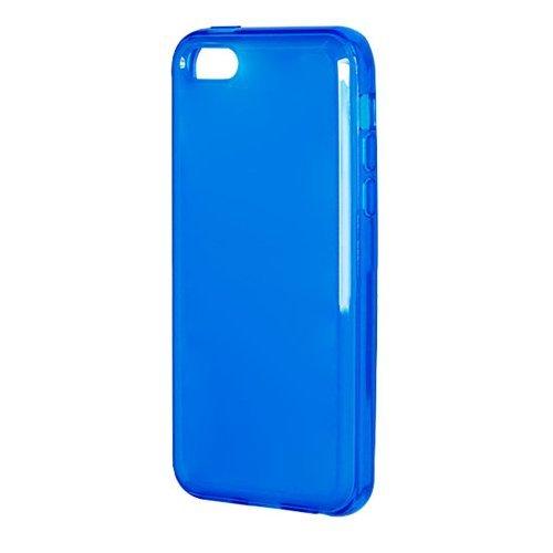 Полупрозрачный чехол New Case Semitransparent синий для iPhone 5C
