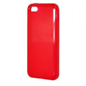 Полупрозрачный чехол New Case Semitransparent красный для iPhone 5C