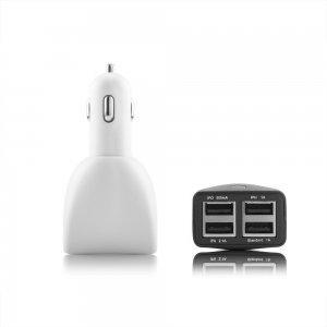 Автомобильное зарядное устройство универсальное, 4 USB, черное
