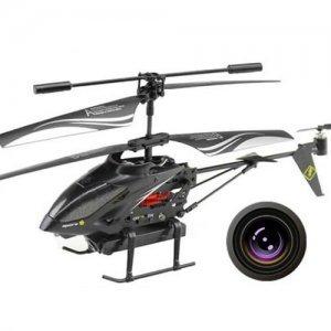 Вертолет на управлении i-Helicopter с камерой черный
