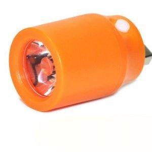 Портативный USB фонарик 25 Lumens оранжевый