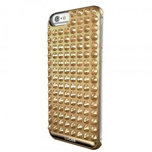 Чехол со стразами Lucien Elements Chrome золотой для iPhone 6/6S