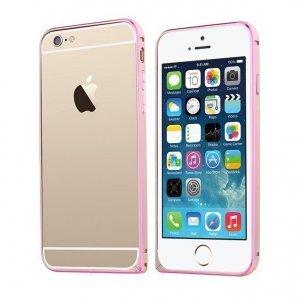 Металлический бампер TOTU Mellow series Element золотой + розовый для iPhone 6