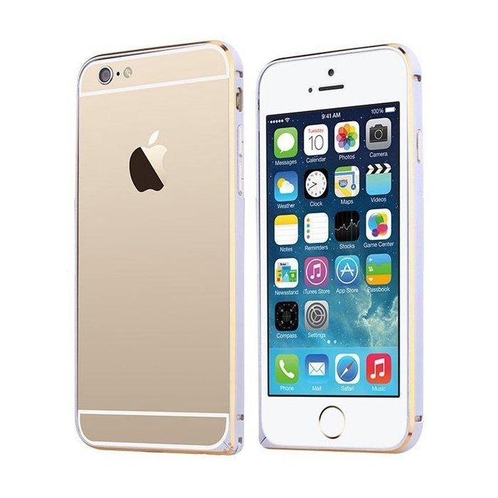 Металлический бампер TOTU Mellow Element золотой + серебристый для iPhone 6
