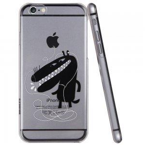 Чехол-накладка для Apple iPhone 6 - ESR Mania Series Monster Kid прозрачный + черный