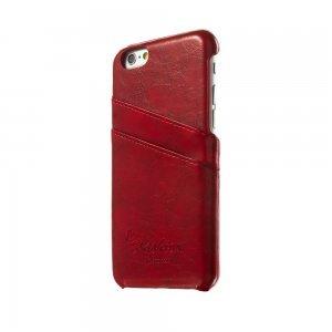 Кожаный чехол G-Source красный для iPhone 6/6S