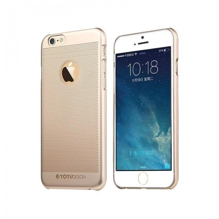Чехол-накладка для Apple iPhone 6 - TOTU Ambulatory Elegant King золотистый