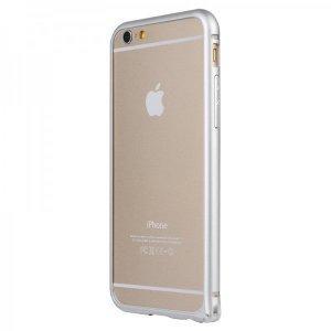 Металлический бампер Baseus Beauty arc серебристый для iPhone 6/6S Plus