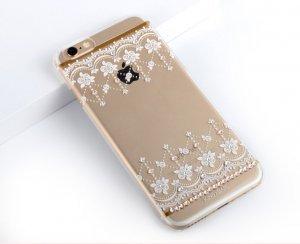 Чехол-накладка для Apple iPhone 6/6S - Kingxbar Roses белый