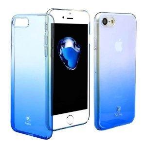 Полупрозрачный чехол Baseus Glaze синий для iPhone 7