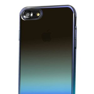 Полупрозрачный чехол Baseus Glaze синий для iPhone 8/7
