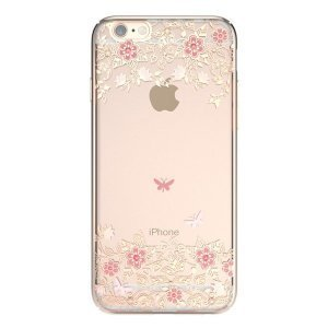 Чехол-накладка для Apple iPhone 6/6S - Kingxbar Dreamland Gold Peony