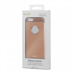 Чехол-накладка для Apple iPhone 6 - Moshi iGlaze Armour медный