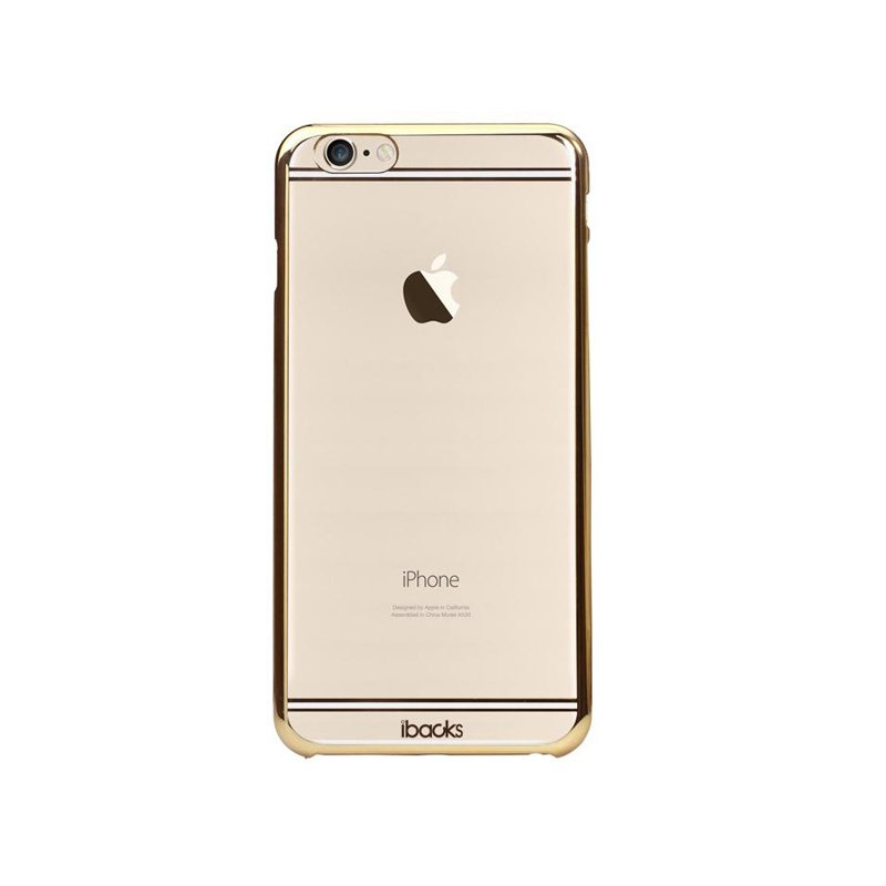 Чехол-накладка для Apple iPhone 6/6S - iBacks iFling Electroplating прозрачный + золотистый