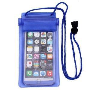 Универсальный водонепроницаемый синий чехол для смартфона