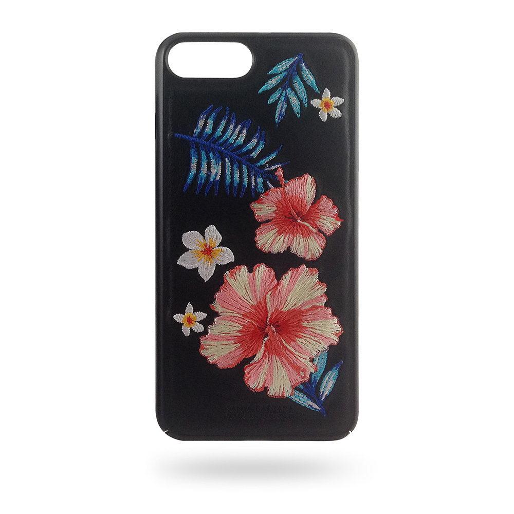 Кожаный чехол Polo Hawaii чёрный для iPhone 8 Plus/7 Plus