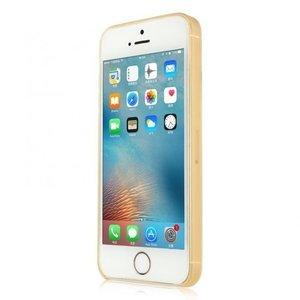 Полупрозрачный чехол Baseus Slim золотой для iPhone 5/5S/SE