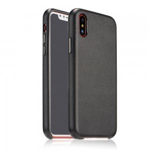 Чехол Coteetci Elegant PU Leather черный для iPhone X/XS