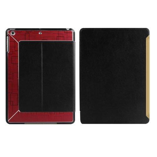 Чехол с орнаментом iBacks Flame черный + красный для iPad Air/iPad (2017/2018)