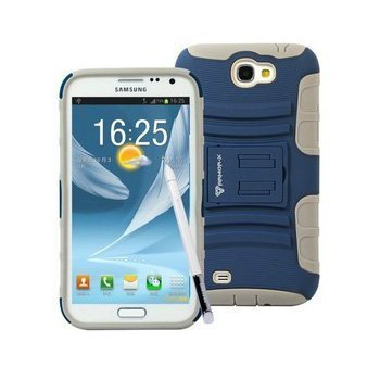 Чехол спорт и экстрим для Samsung Galaxy Note II - Armor-X Action Shell синий + серый