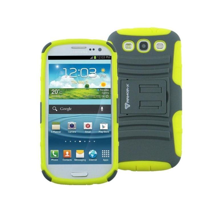 Чехол спорт и экстрим для Samsung Galaxy Note II - Armor-X Action Shell желтый + серый