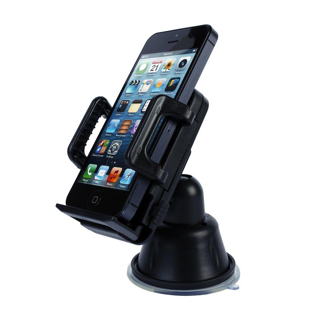 Универсальный автодержатель для смартфона Windshield Mount черный