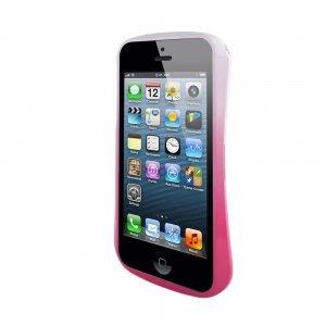 Чехол-бампер для Apple iPhone 5/5S - Cleave 5 A6061 розовый + белый