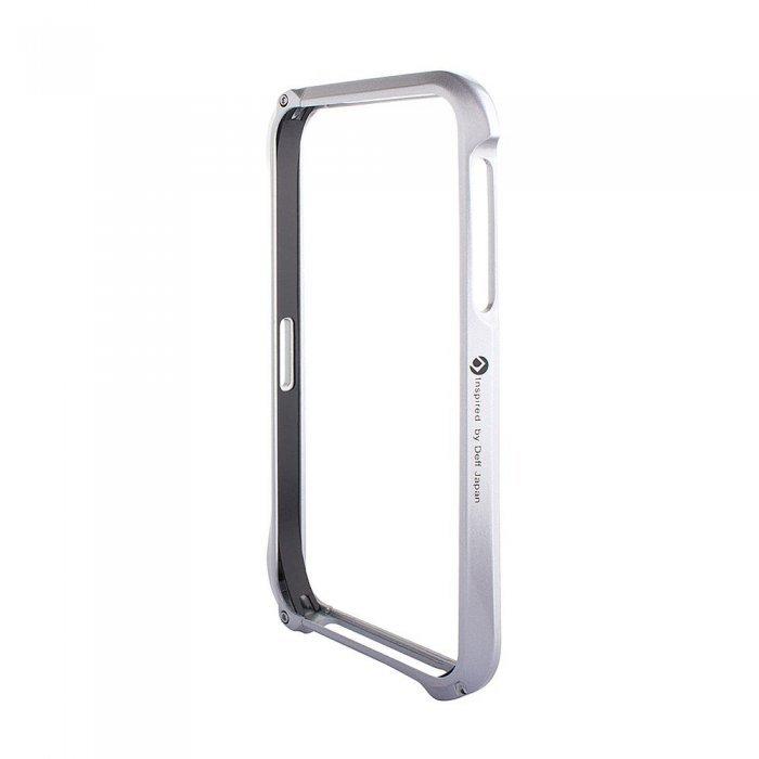 Металлический бампер Cleave A6063 серебристый для iPhone 5/5S/SE