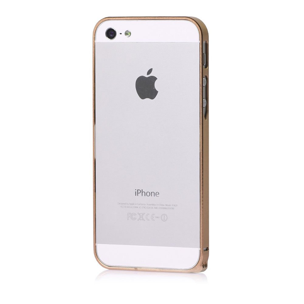 Бампер Cross Metal SP-5 золотой для iPhone 5/5S/SE