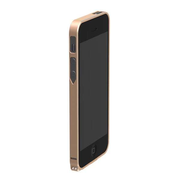Бампер Cross Metal SP-5 золотой для iPhone 5/5S/SE