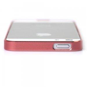 Металлический бампер Cross Metal SP-5 розовый для iPhone 5/5S/SE