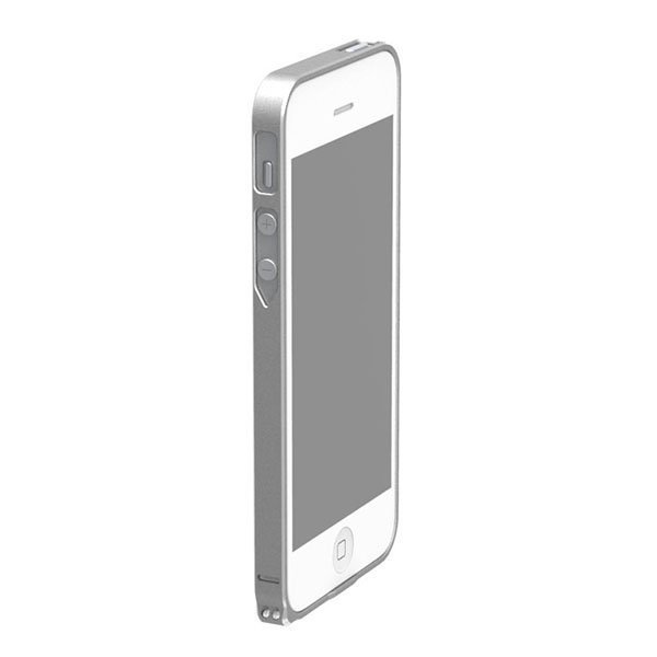 Чехол-бампер для Apple iPhone 4/4S - Cross Metal SP-5 серебристый