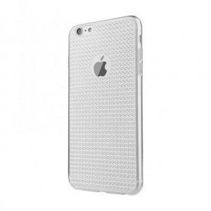 Силиковый чехол Baseus Bling серебристый для iPhone 6/6S Plus
