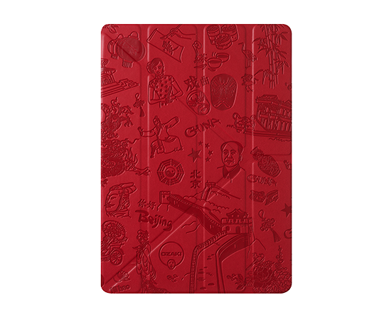 Чехол-книжка для Apple iPad Air/Air 2 - Ozaki O!coat Travel Bejing красный