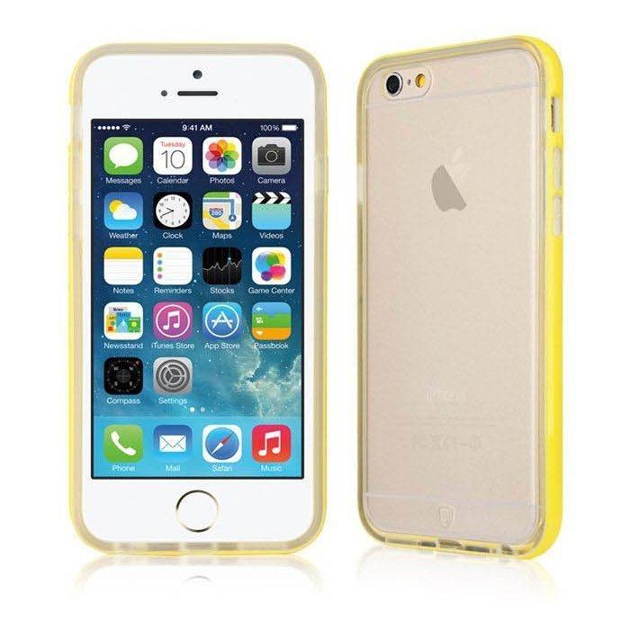 Силиконовый чехол Baseus Fresh желтый для iPhone 6 Plus/6S Plus